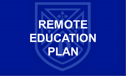 Remote Education Plan button