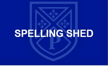 Spelling Shed button